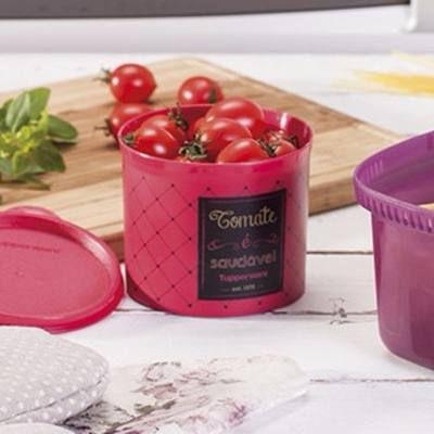 Tupperware Caixa Redondinha Para Tomate 500ml  - Linha Bistrô