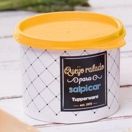 Tupperware Caixa Redondinha Para Queijo Ralado 500ml  - Linha Bistrô