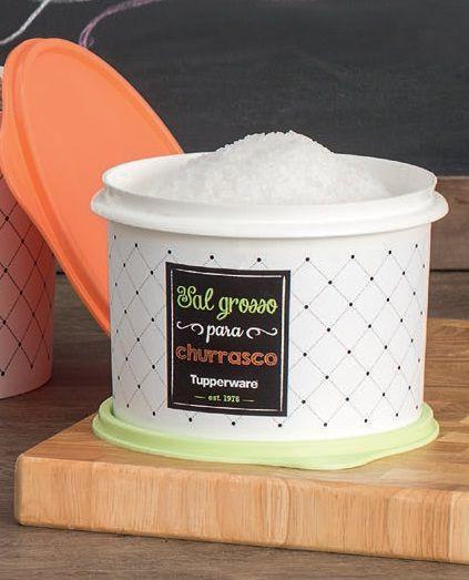 Tupperware Caixa Para Sal Grosso 1,0Kg  - Linha Bistrô