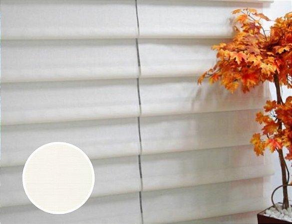 Cortina Romana Cascade Tela Screen 5% cor Branco