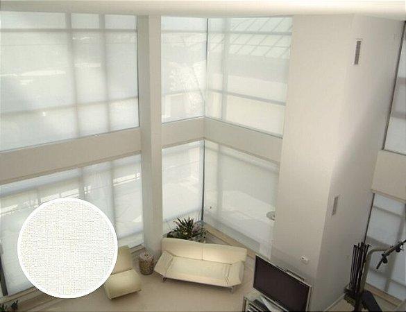 Cortina Rolô Tela Solar Texturizado cor Branco