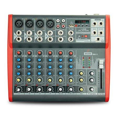 Mesa de som Arcano MM-8 com 8 canais