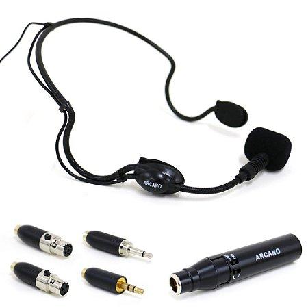 Microfone condensador auricular Arcano IMIC-3 c/ adaptadores cambiáveis