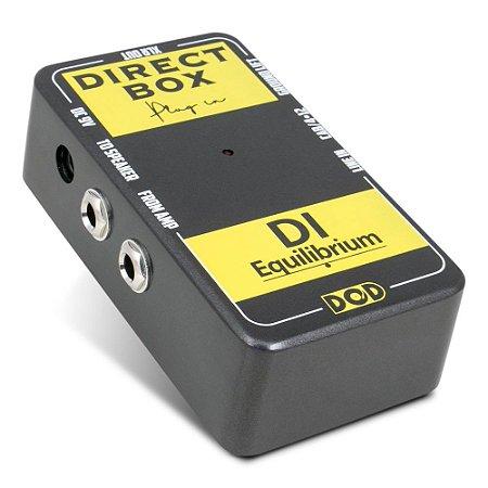 Direct Box pedal DOD DI-Equilibrium c/ simulador de amp