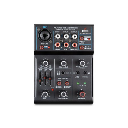 Mesa de som e interface USB Arcano ARC-MINI-MX1EQ