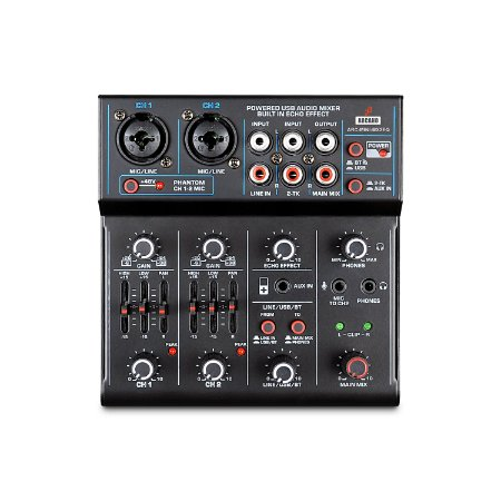 Mesa de som e interface USB Arcano ARC-MINI-MX2EQ