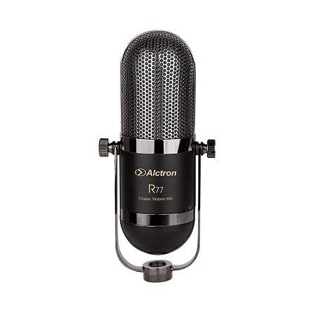 Microfone de fita Alctron R77 ribbon ativo c/ maleta