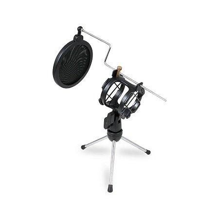 Suporte de microfone mini pedestal Arcano AR-3S tripé de mesa