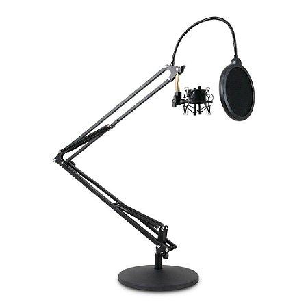 Pedestal articulado Arcano AR-4S de mesa c/ pop filter e shock mount