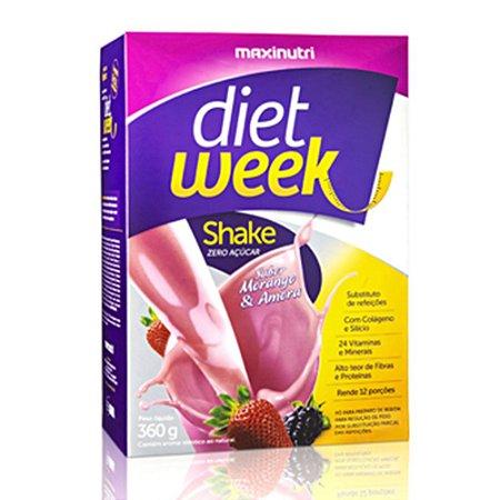 Shake Diet Week Sabor Morango e Amora 360g - Maxinutri