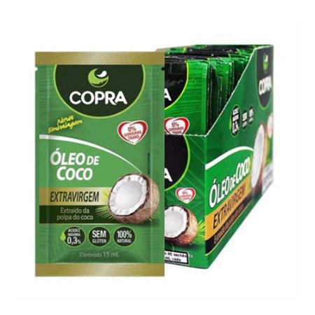 Óleo de Coco Extra Virgem Sachê (40unid) - Copra