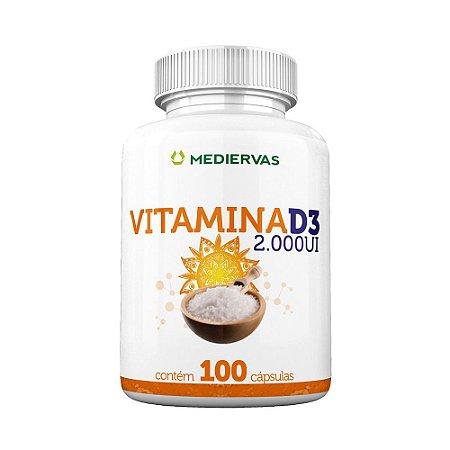 Vitamina D3 2.000 UI 100 caps - Mediervas