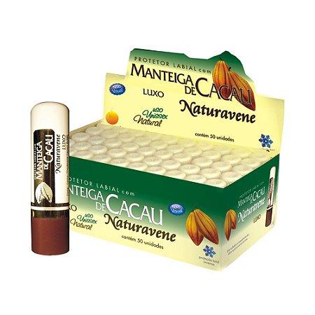 Protetor Labial Manteiga De Cacau Luxo Hidratante (bastão) 50und - Naturavene