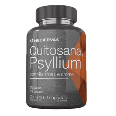 Quitosana+ Psyllium 60 Caps - Mediervas