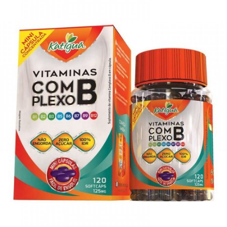 Vitamina Complexo B 120 mini caps - Katigua