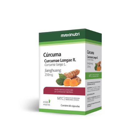 Cúrcuma (Curcuma Longa L.) 60 caps - Maxinutri