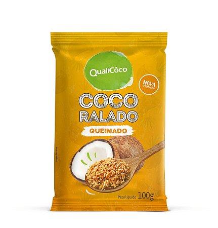 Coco Ralado Queimado 100g - Qualicoco