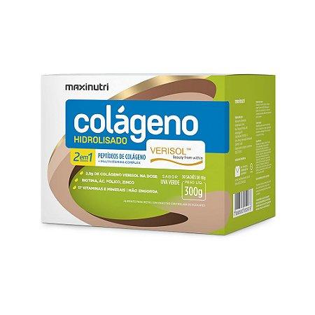 Colágeno Hidrolisado Verisol 2em1 Uva Verde 30x10g - Maxinutri