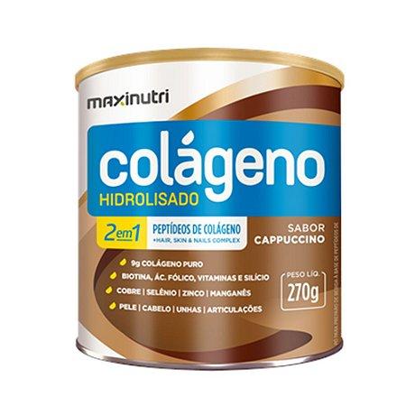 Colágeno Hidrolisado Cappuccino 2em1 250g - Maxinutri