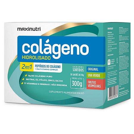 Colágeno Hidrolisado 2em1 Sachê Sortidos  300g - Maxinutri