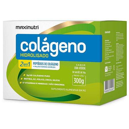 Colágeno Hidrolisado 2em1 Uva Verde 30x10g - Maxinutri