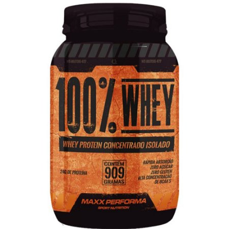 Whey Protein-concent/isolado 909g Chocolate - Maxx Performa