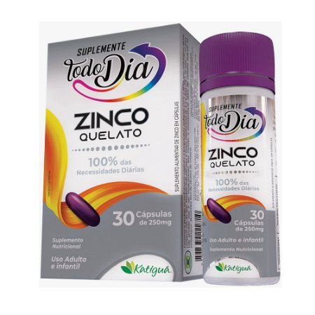 STD Zinco Quelado - 30 caps 250mg