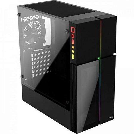 Gabinete Gamer Mid Tower PLAYA RGB Vidro Temperado AEROCOOL