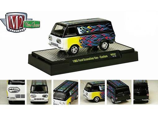 Ford: Econoline Van Custom (1965) Preto - 1:64 - M2 Machines