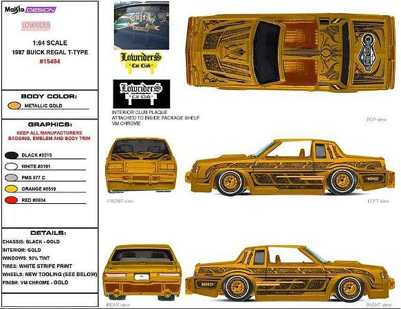 2022 Maisto Vegas Super Convention 1987 Buick Regal Lowrider - Junho 2022 - Leia a descrição