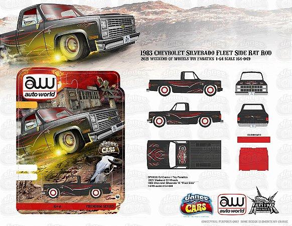 Pré venda - Autoworld Anniversary Commemorative Vegas Edition 83 Silverado Rat Rod - Novembro 2021 - Leia a descrição