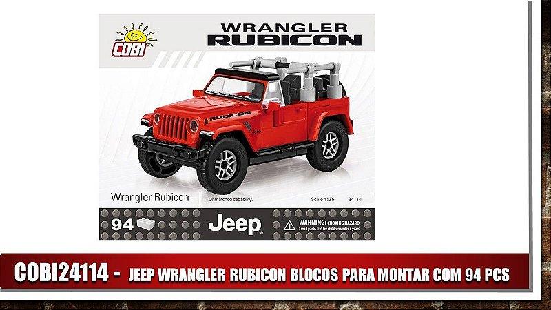 JEEP WRANGLER RUBICON BLOCOS PARA MONTAR COM 94 PCS - Vermelho