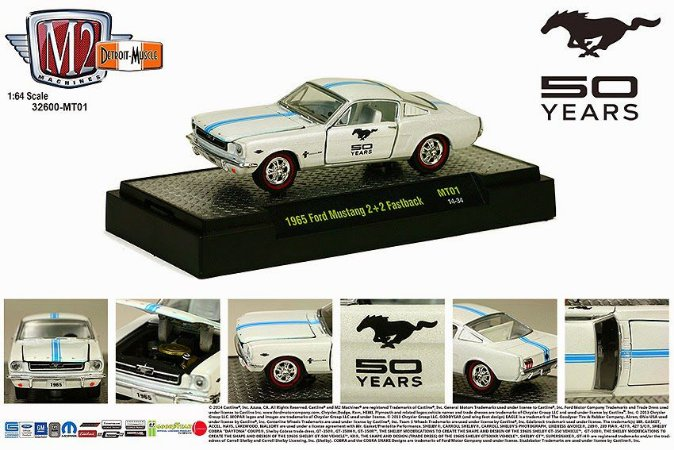 1968 Ford Mustang Cobra Jet Detroit-muscle 50 Anos - 1:64