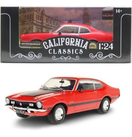 1974 Ford Maverick Gt 1:24 Vermelho