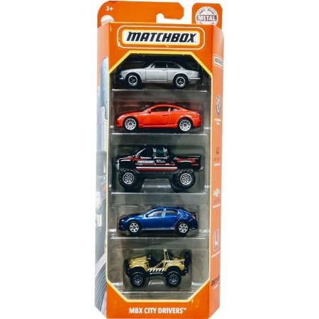 Pack 5 Matchbox - MBX City Drivers - GVY42