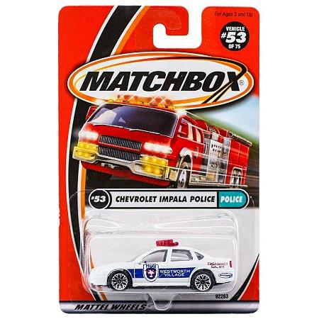 Chevrolet Impala White Police Series 2001