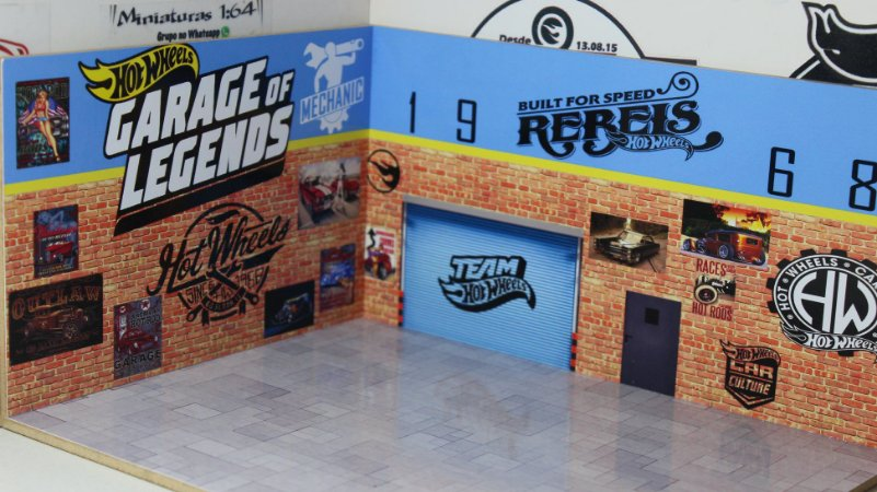 Diorama - Garage Of Legends - 1/64 - MDF