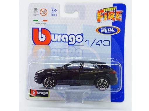 Porsche Macan - Street Fire - Preto - 1:43 - Burago