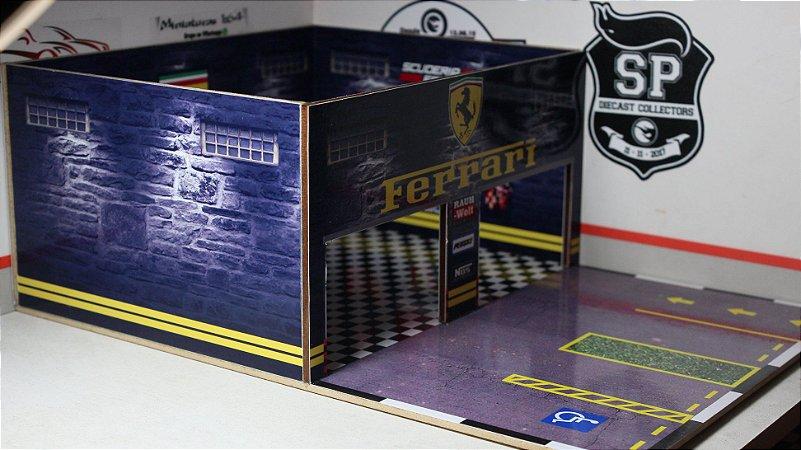 Diorama Oficina Ferrari - 1/64 - MDF