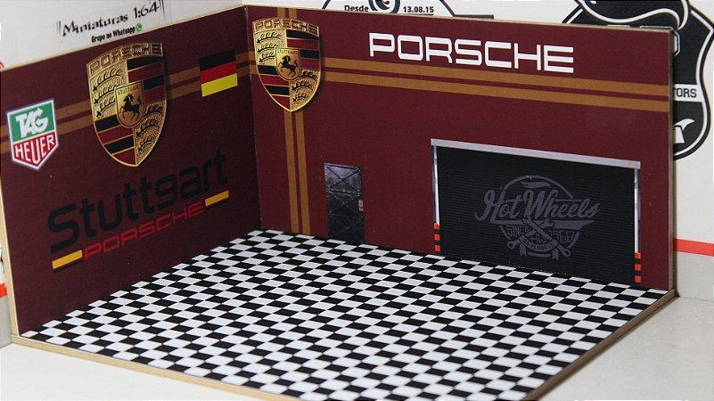Diorama Porsche - 1/64 - MDF