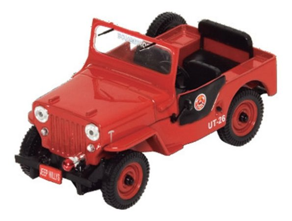 Jeep Willys Corpo De Bombeiros 1:43