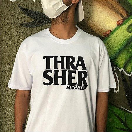 Camiseta Thrasher Magazine Anti Logo Branca