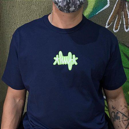 Camiseta Huf Landmark Logo Azul