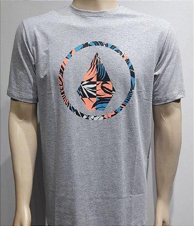 Camiseta Volcom Infillion Mescla Cinza