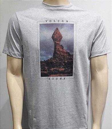 Camiseta Volcom Stone Stack Cinza