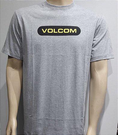 Camiseta Volcom New Euro Mescla Cinza