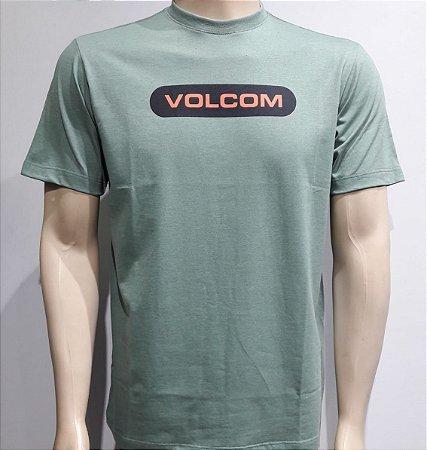 Camiseta Volcom New Euro Mescla Verde