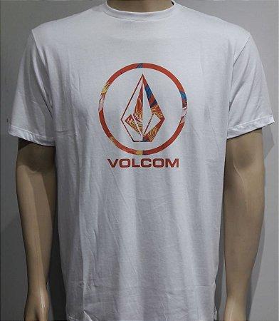 Camiseta Volcom Pattern Fill Branca