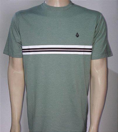 Camiseta Volcom Stone Line Mescla Verde
