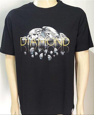 Camiseta Diamond Mirrored Tee Preta